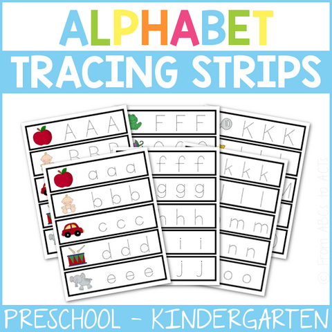Alphabet Tracing Strips