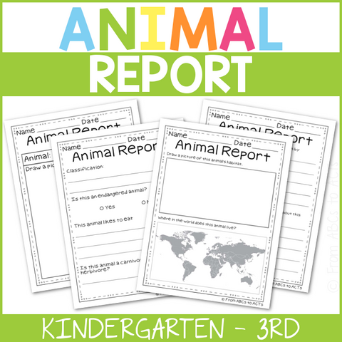 Animal Report Pack