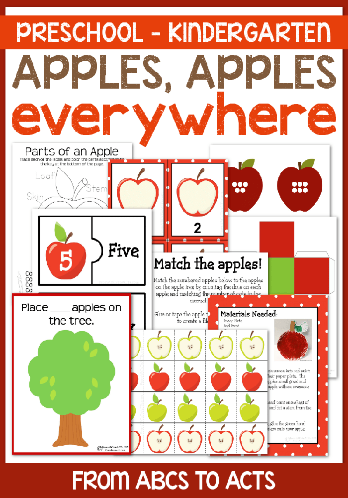 Fall is in the air and apple season is just around the corner! This apple themed pack is a great way to celebrate fall with 90+ pages of resources and activities that are perfect for preschoolers and kindergartners!