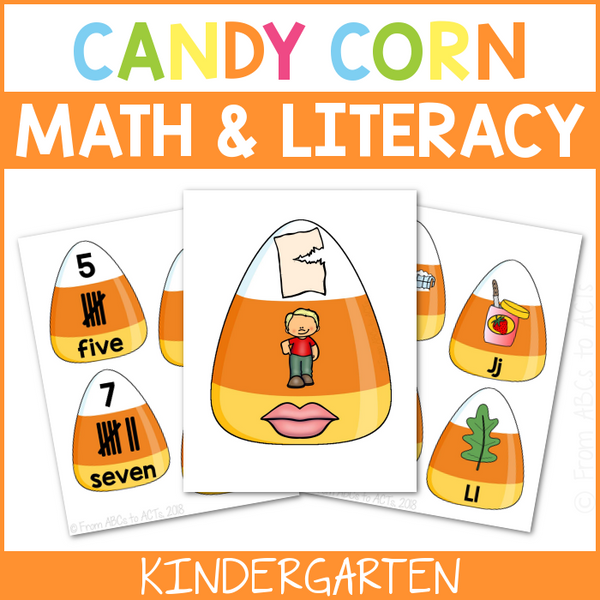 Candy Corn Math and Literacy Centers