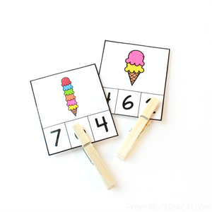 Ice Cream Count & Clip Cards (PHYSICAL PRODUCT)