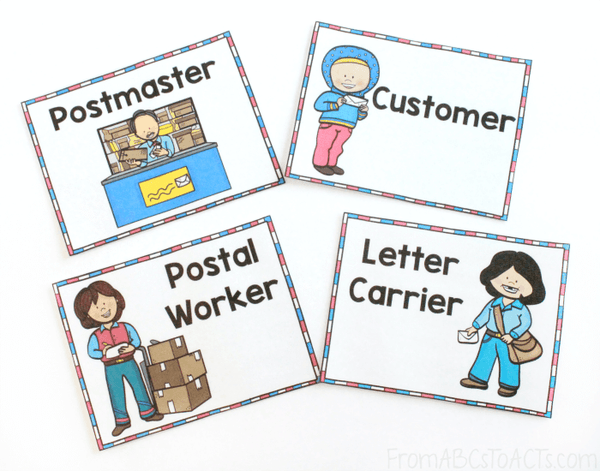 Job Badges for Post Office Dramatic Play Center
