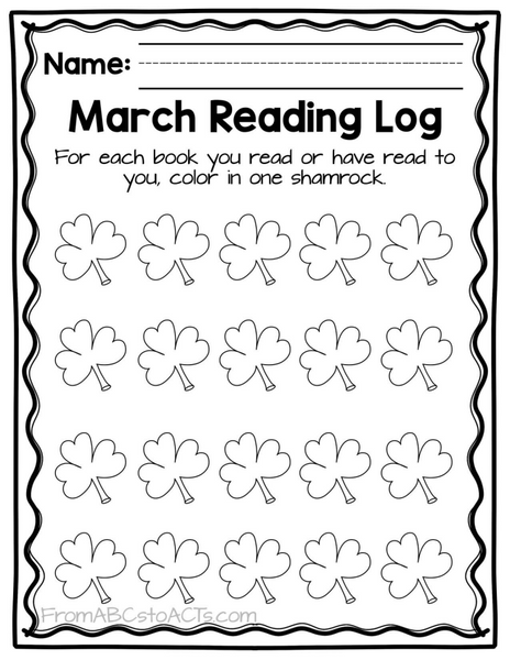 March Reading Log