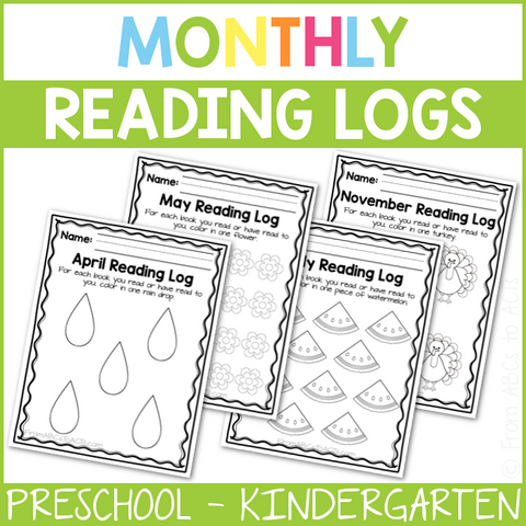 Themed Monthly Reading Logs