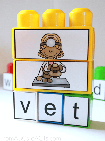 Printable Middle E CVC Puzzles for Kids