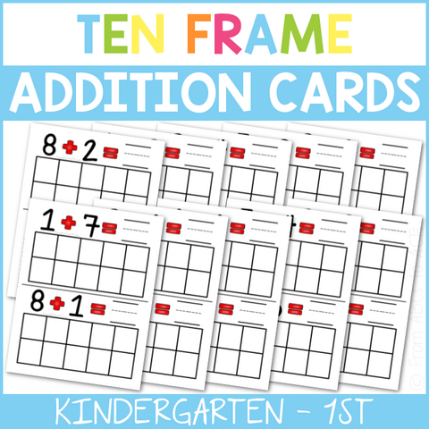 Ten Frame Addition Cards