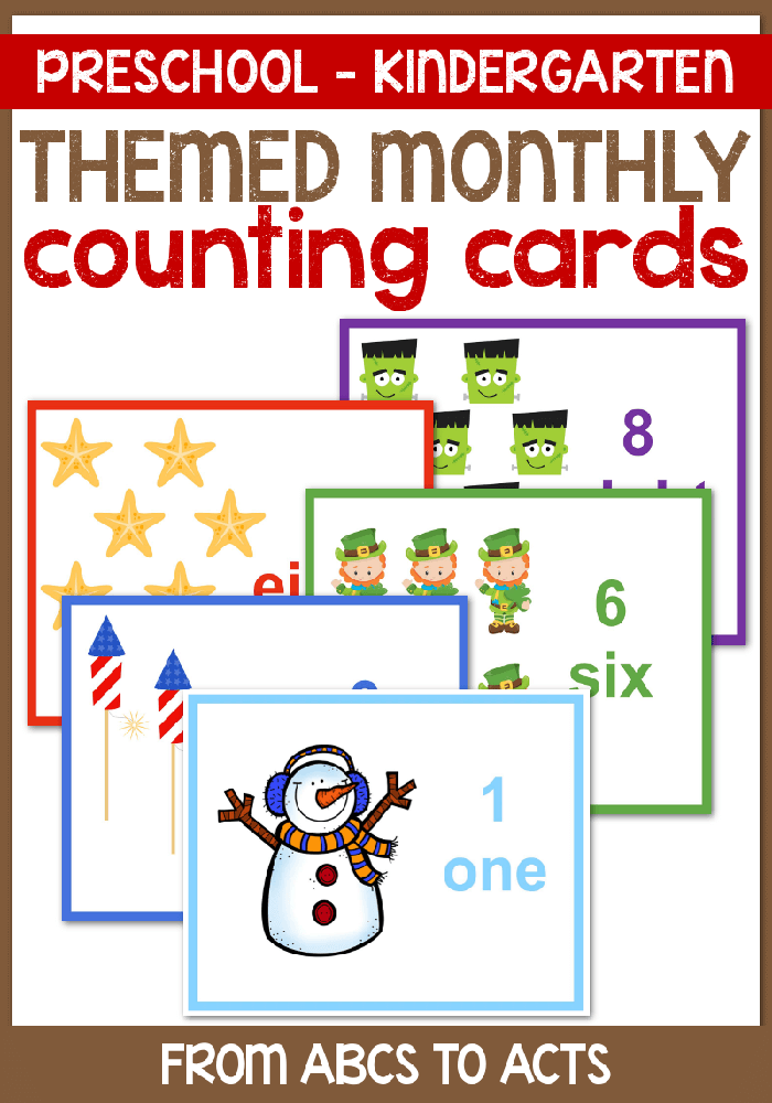 Count your way through the year with these fun themed counting cards for toddlers and preschoolers!