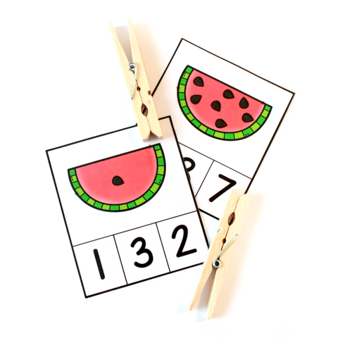Watermelon Count & Clip Cards (PHYSICAL PRODUCT)