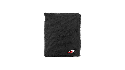Sherpa Blanket with Embroidered Eagle
