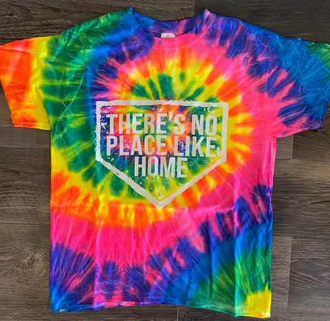 No Place Like Home-Youth and Adult Multi-Color Spiral Short Sleeve T-Shirt