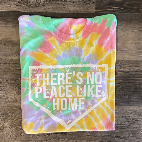 No Place Like Home Adult Multi-Color Spiral Short Sleeve T-Shirt - 200MS
