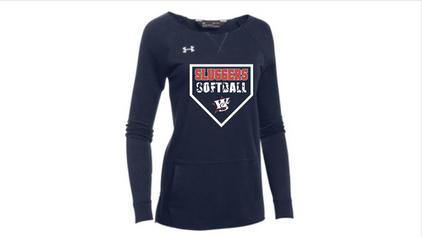Slugger Softball-UA Women's Hustle Fleece Crew