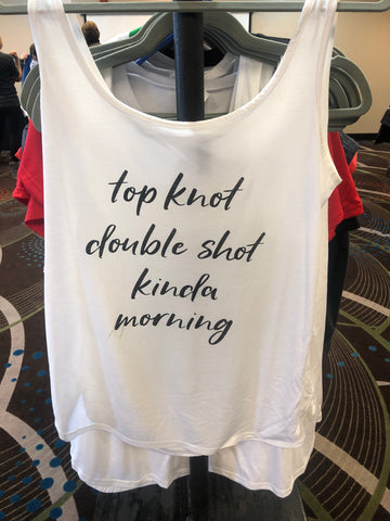 Top knot double shot tank top