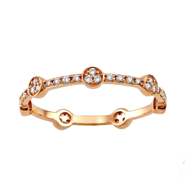 Stackable Diamond Rings - 10k rose gold 1/4ct tdw diamond stackable eternity band ring