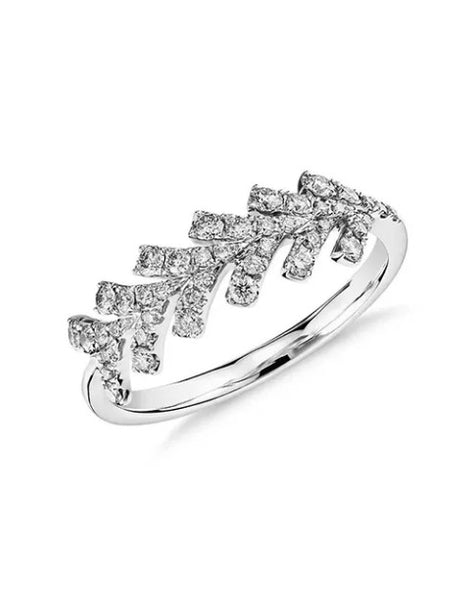 Wedding Rings For Women - Cupid's Arrow 1/4 Carat Diamond Platinum Wedding Ring For Women Pave Setting Wedding Rings