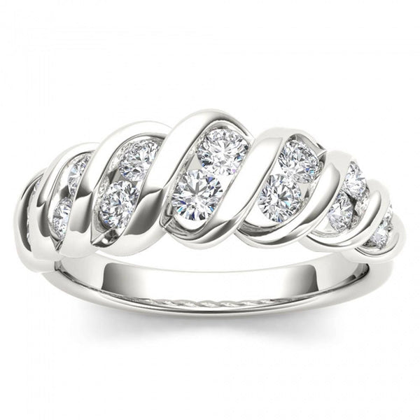Stackable Diamond Rings - 14k white gold 3/4ct tdw anniversary band