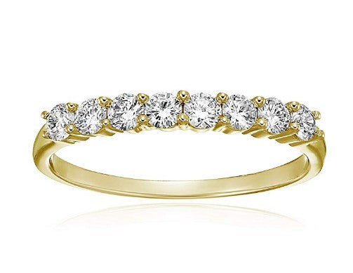Wedding Rings For Women - Exceptional 1/2 Carat Diamond Yellow Gold Wedding Band Rings White Gold Wedding Band