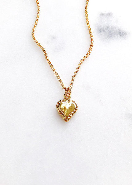 Gold filled heart love pendant necklace gift for girlfriend