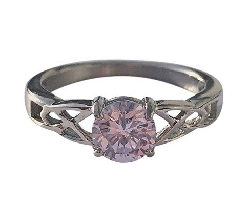 June Birthstone Rings - celtic cubic zirconia cz alexanderite stainless steel June birthstone ring
