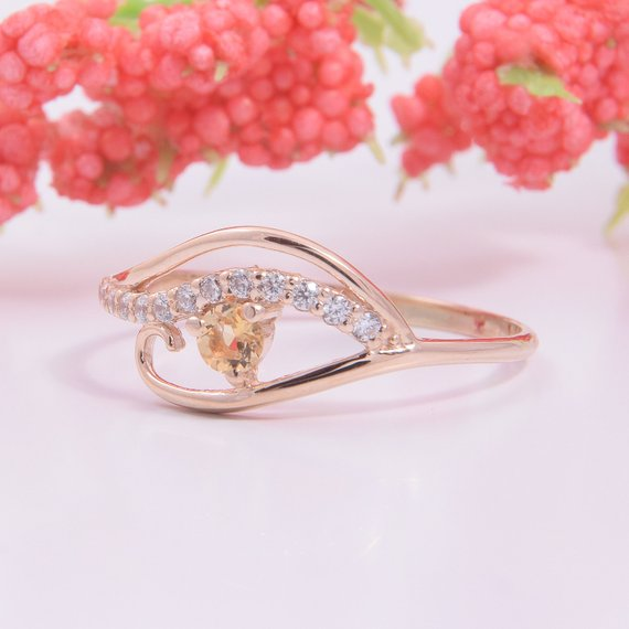 Rose Gold Rings For Women - Gorgeous Prong Set Cubic Zirconia Halo Rose Gold Pre-engagement Ring