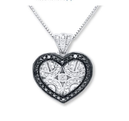 1/20 ct tw diamond sterling silver heart locket necklace