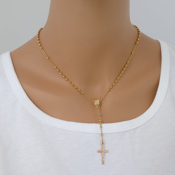 Solid 14k gold necklace gift for her