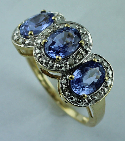 Tanzanite 2.83 ct 925 silver December birthstone ring