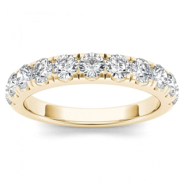 Stackable Diamond Rings - 14k yellow gold 1ct tdw wedding band