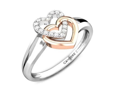 Heart Shaped Diamond Ring - perfect duet v.day diamond ring