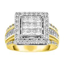 Faux diamond engagement fashion ring