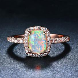 Faux fire opal fashion ring for women