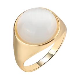 Opal minimalist fashion ring for women