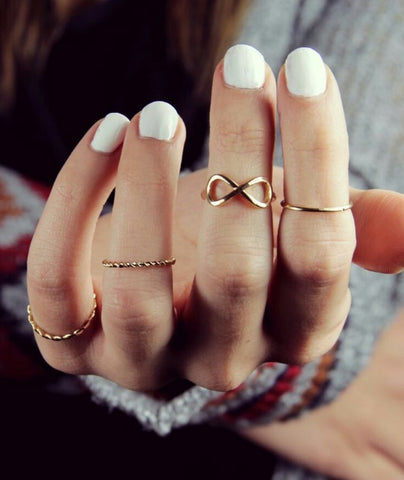 Simple midi fashion rings for women