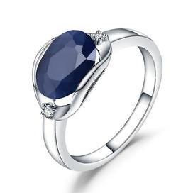 Sterling silver blue gemstone engagement rings