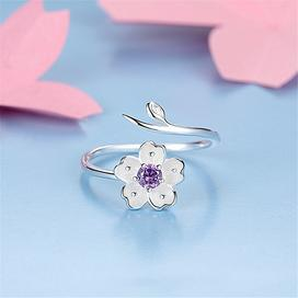 Sterling silver daisy flower wrap toe fashion ring for women