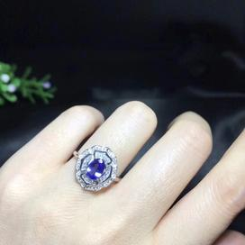 Tanzanite gemstone birthstone ring for women