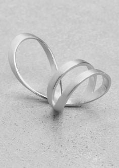 Wrap fashion ring in sterling silver