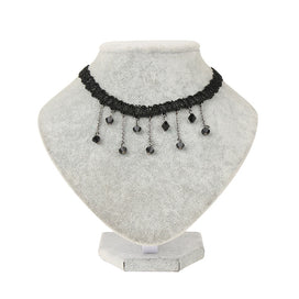 Chunky black necklace - 1 Pcs Women Black Pendant Chain Necklace Crystal Choker Chunky Statement Bib Necklace Jewelry Charm