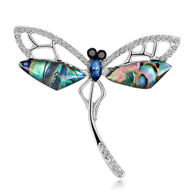 Fashion Shell Vintage Dragonfly Brooches For Women Large Insect Brooch Pin Fashion Accessories Cute Jewelry - brooch, dragonfly brooch, womens brooch