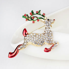 Christmas brooch - Fashion Upscale Women Deer Shape Brooches Corsage Christmas Gifts Fashion Fine Women Crystal Brooch