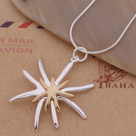 Starfish necklace sterling silver - 925 Sterling Silver Necklace 925 Silver Fashion Jewelry Pendant Starfish Shaped