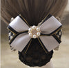 Bow tie clips - Handmade Office Lady Bow Tie Barrette Hair Clip Cover Bowknot Net Bun Snood Hair Accestory