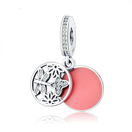 Sterling silver dragonfly necklace - Fit Original Pandora Charm Bracelet 925 Sterling Silver Cute Dragonfly Pendant For Women