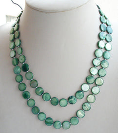 Mother of pearl necklace - 36'' Genuine 10mm Color Coin Mother Pearl Shell Bead Long Rope Necklace Fashion Jewelry