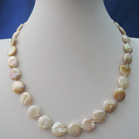 Baroque pearl necklace - Baroque Pearl Necklace Coin Shape Baroque Nature Freshwater Pearl Necklace