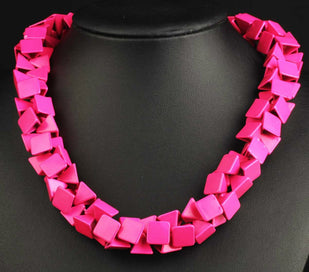 Beaded statement necklace - Gorgeous Fashion Necklace Jewelry Pink Department Bib Statement Women Choker Necklaces &