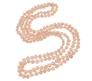 Long beaded necklace - 120 CM Wedding Fashion Bridal Gifts Natural Real Freshwater Pearl Necklace 2-strand Pink Statement