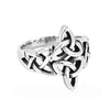 Celtic knot ring - Silver Celtic Knot Ring Stainless Steel Jewelry Claddagh Style Fashion Motor Biker Women Ring