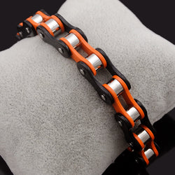 Bike chain bracelet - Fashion Women Double Color Stainless Steel Bracelet Bicycle Chain Punk Rock Motorcycle Chain Bracelet