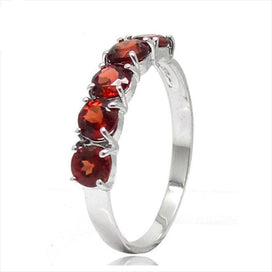 January birthstone rings - 100% Natural Garnet Wedding Rings For Women 925 Solid Sterling Silver Jewelry January Birthstone